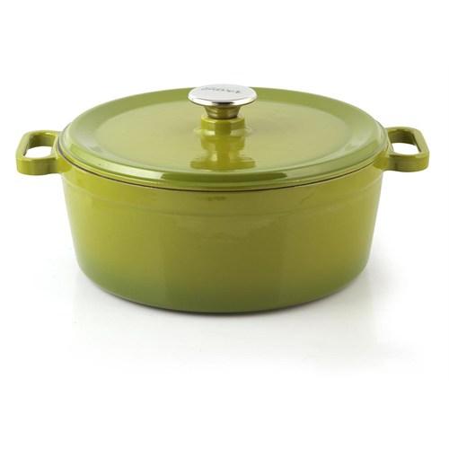 Silver Cusinero Döküm Tencere 28 cm Yeşil