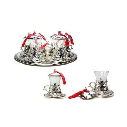 Hepsi Dahice Ottoman Stil 6 Kişilik Çay Seti