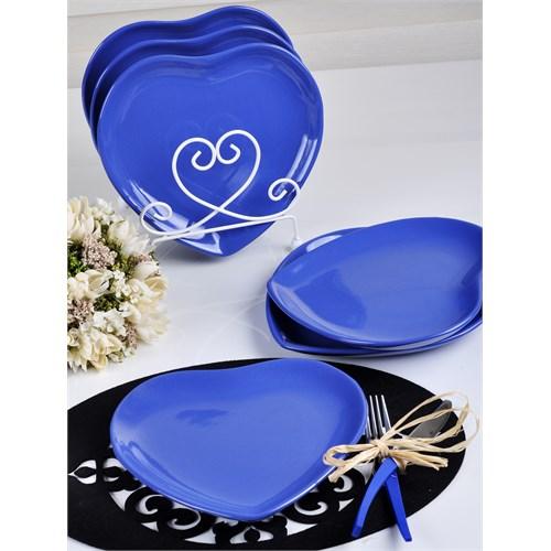Keramika Tabak Kalp 25 Cm Efe Mavi 408