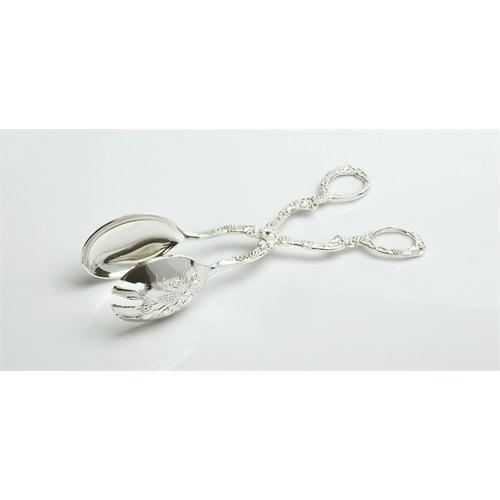 Yargıcı Porselen Metal Gümüş Renk Maşa