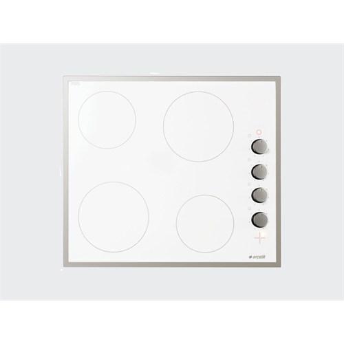 Arçelik Ov 644 Db Ankastre Ocak Beyaz - İnox Çerçeveli 4G Vitroseramik Düğmeden Kumandalı