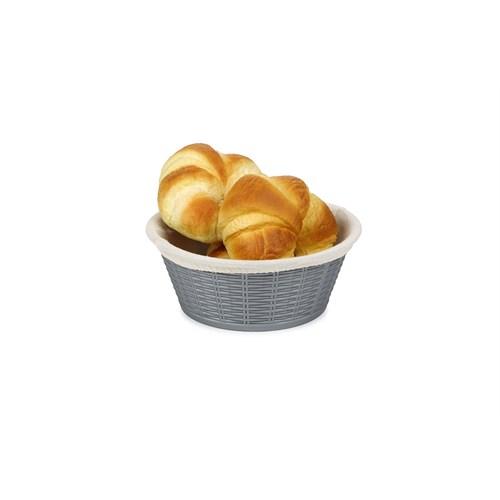 BO660 - Hasır Desenli Ekmek Sepeti - Bez Kaplamalı