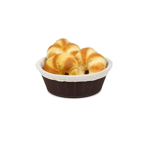 BO662 - Hasır Desenli Ekmek Sepeti - Bez Kaplamalı