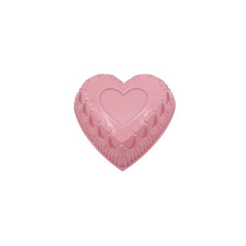 Tantitoni Döküm Yapışmaz Kaplamalı Kalp Şekilli Pembe Kek Kalıbı
