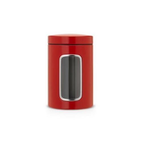 Brabantia Deep Red Pencereli Kavanoz