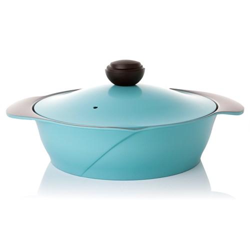 Cheftopf Sığ Tencere Mavi 28 Cm