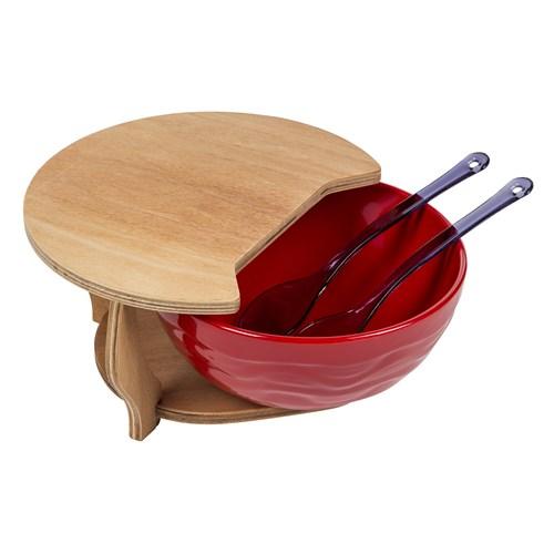 Tuğbasan Kesme Tahtalı Pratik Salata Doğrama Seti-Kırmızı
