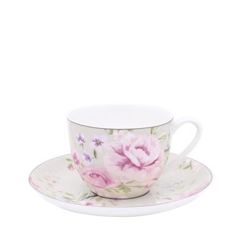 Yargıcı Fıne Bone Porselen Çay Fincan Ve Tabağı ( 7 X 16 Cm )
