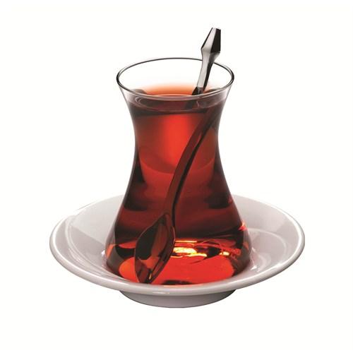 Mevlevi 18 Parça Çay Bardak Seti Kaşıklı