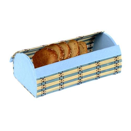 Orijinal Kulüp Hasır Kapaklı Ekmek Sepeti Gökyüzü Mavisi
