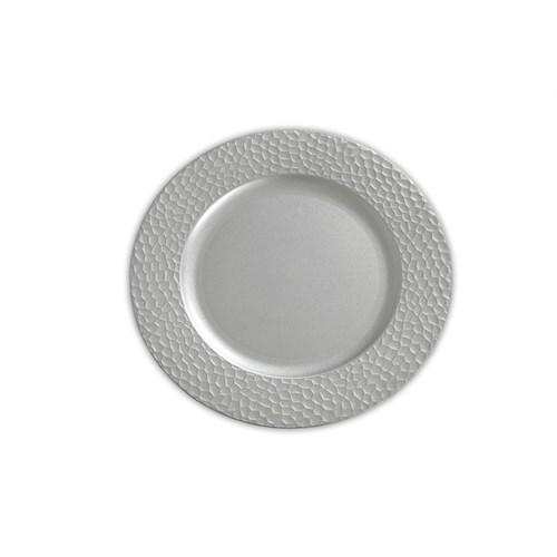 Kancaev Dekoratif Plastik Supla/Tabak Altlığı Bal Peteği - Gümüş 6'Lı Set
