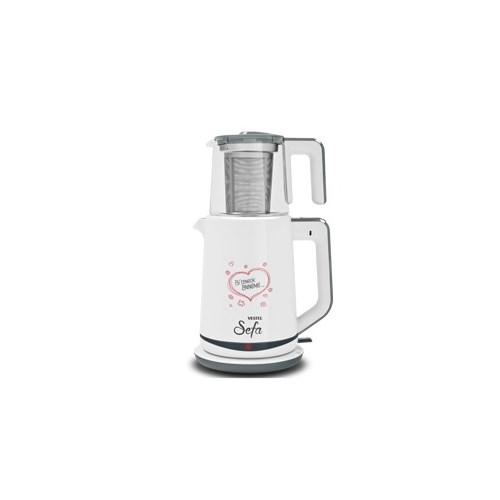 Vestel Sefa Cam Beyaz Çay Makinası