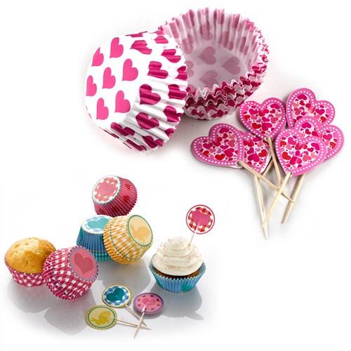 BlueZen Özel Kutusunda Muffin Kağıt Kapsülleri ve Not Baloncukları