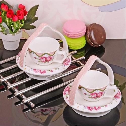 İhouse11805 Porselen Kahve İkram Seti Beyaz