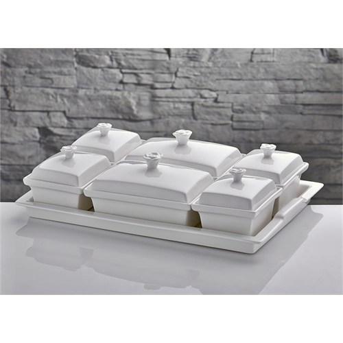 İhouseyg58a Porselen Kahvaltılık Beyaz