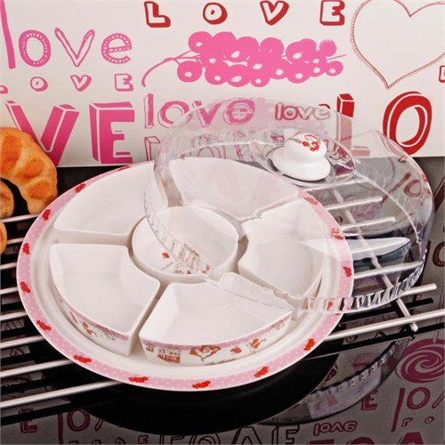 İhouse8304 Porselen Kahvaltılık Beyaz