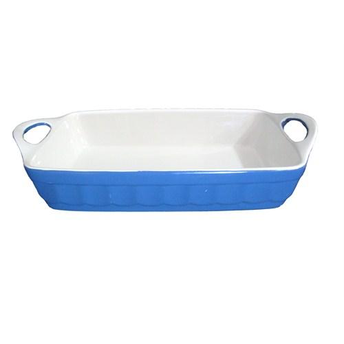 Gönül Porselen Renkli Fırın Kabı Mavi