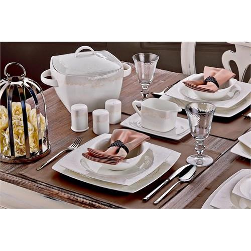 Neva N1190 Romance 85 Parça Bone Premium Yemek Takımı