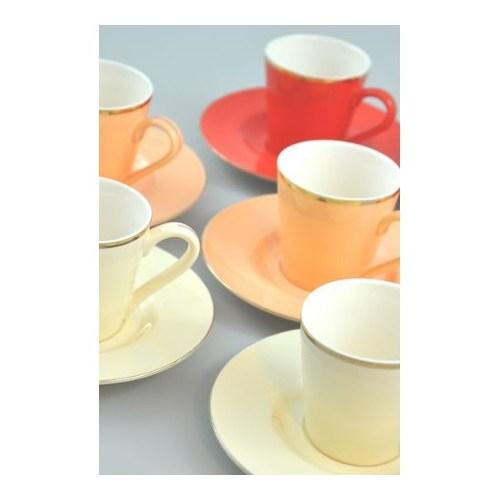 Mıa Renkli Kahve Fincanı Takımı - 6'Lı Rk001