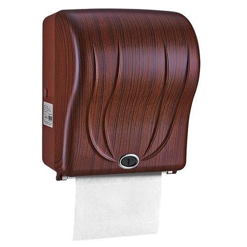 Rulopak R-1301-D5 Koyu Ahşap Desen Sensörlü Havlu Makinesi 21 cm
