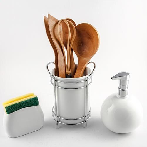 Evon 3'Lü Mutfak Takımı - Beyaz