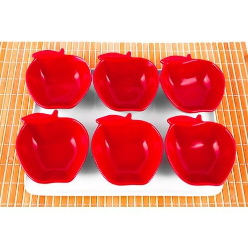 Evon Elma 6'Lı Kahvaltılık - Kırmızı