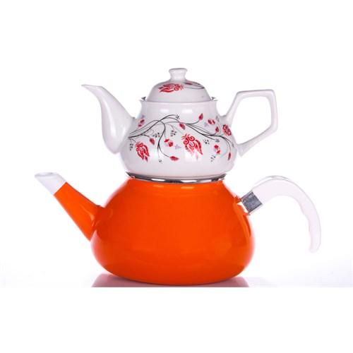 Evon Lale Çaydanlık - Turuncu