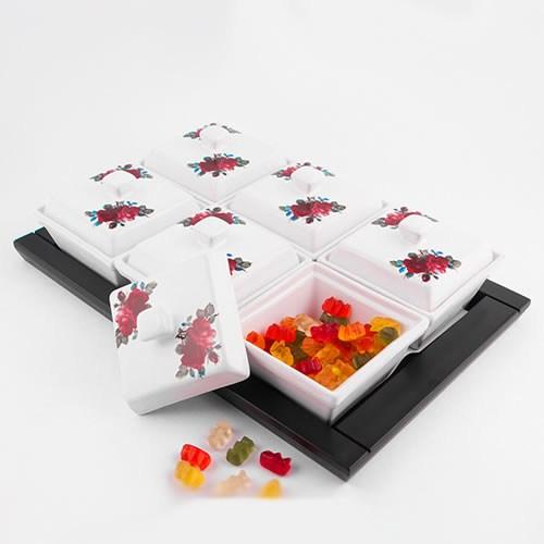 Evon Rosa 6'Lı Kahvaltılık - Kırmızı