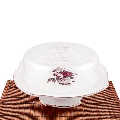Evon Rosa Ayaklı Kek Fanus
