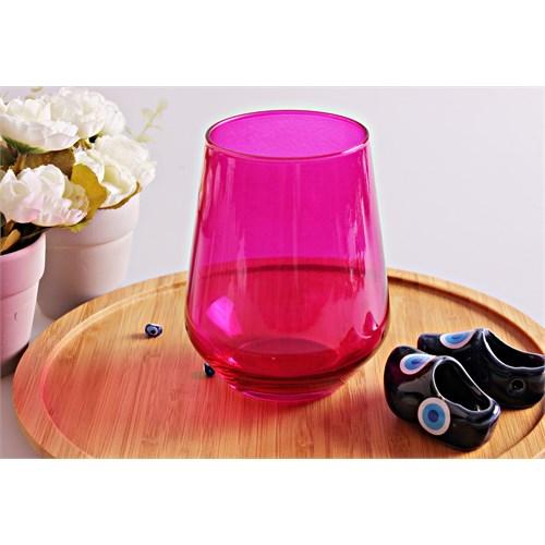 Mos'ev 6'Lı Allegra Transparan Fuşya Su Bardağı