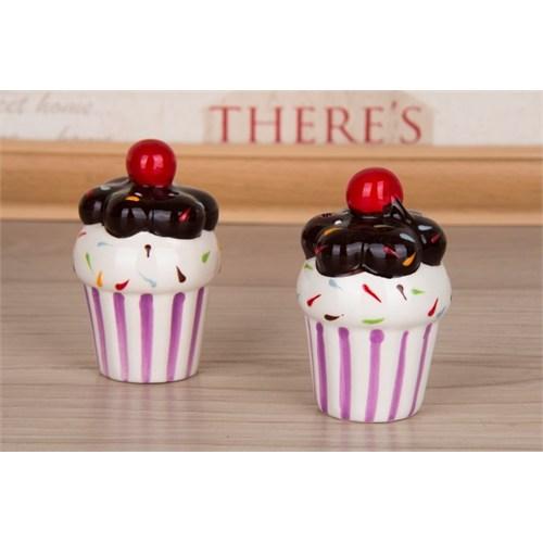 LoveQ Cupcake Serisi Seramik Tuzluk Biberlik 146803P