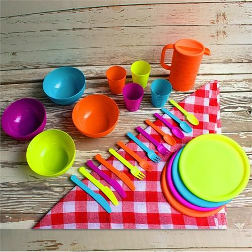 Evino Plastik Piknik Seti 25 Parça - Mix