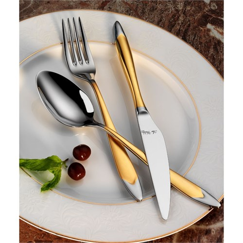 Aryıldız Flamingo Prestige Mat Altın 89 Parça Çatal Bıçak Takımı