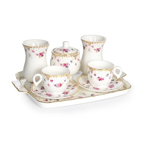 LoveQ Porselen Çift Kişilik Kahve Seti