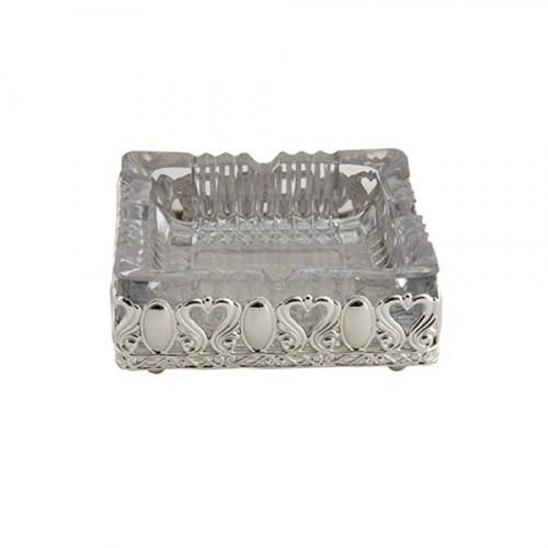 LoveQ Gümüş Camlı Lüx Küllük