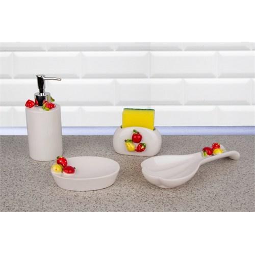 LoveQ Porselen Meyveli 4 Parça Mutfak Seti 146722