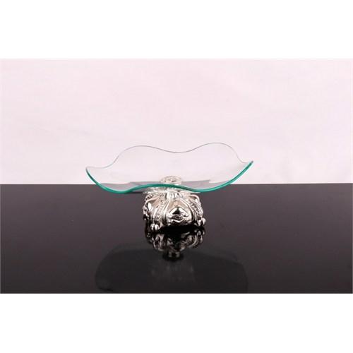 LoveQ Lux Gümüş Cam Meyvelik 143831