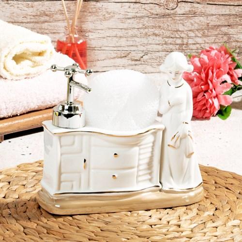 Porselen Süngerli Sıvı Sabunluk Bny-103