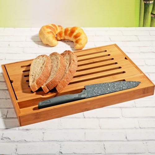 Bambu Izgaralı Ekmek Kesme Tahtası - Kesim Panosu