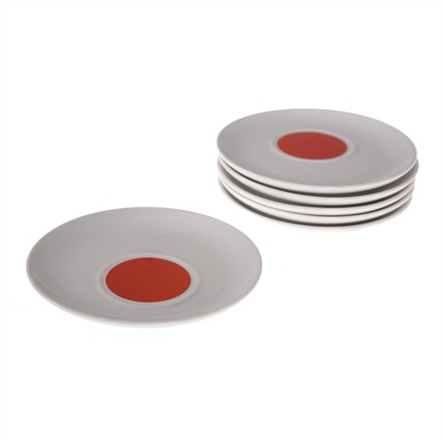 Bosphorus Porselen Sunum Tabağı 6'Lı Set Kırmızı A Model