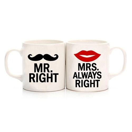 Köstebek Mr.Right - Mrs.Always Right Sevgili Kupa