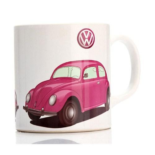Köstebek Volkswagen Beetle Pembe Kupa
