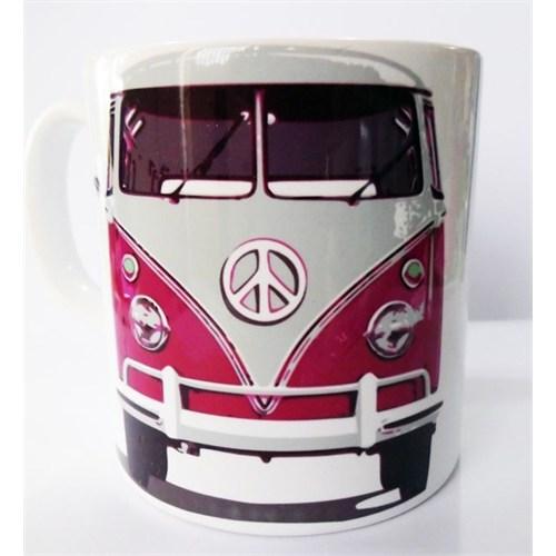 Köstebek Volkswagen Transporter Önden Görünüm Pembe Kupa