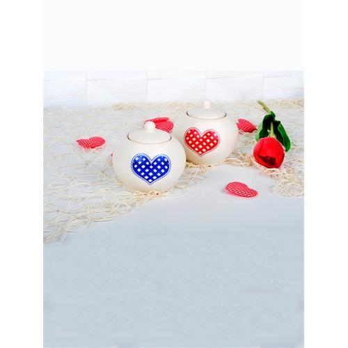Keramika Set Şekerlik Juliet 4 Parça Mat Transparan Beyaz 021 Potıkare A