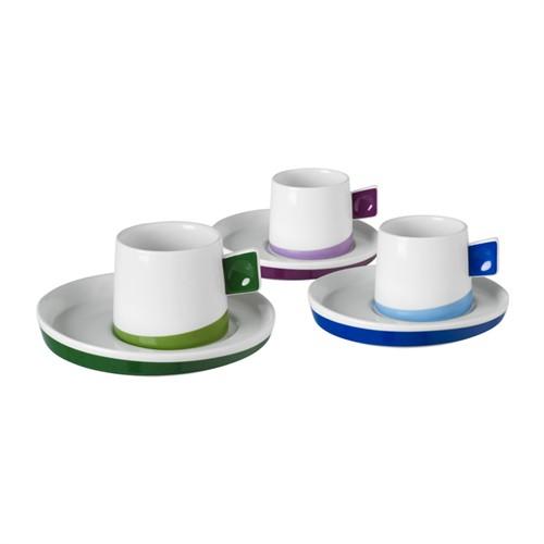 Emsan Line 6'Lı Kahve Fincan Takımı Yeşil