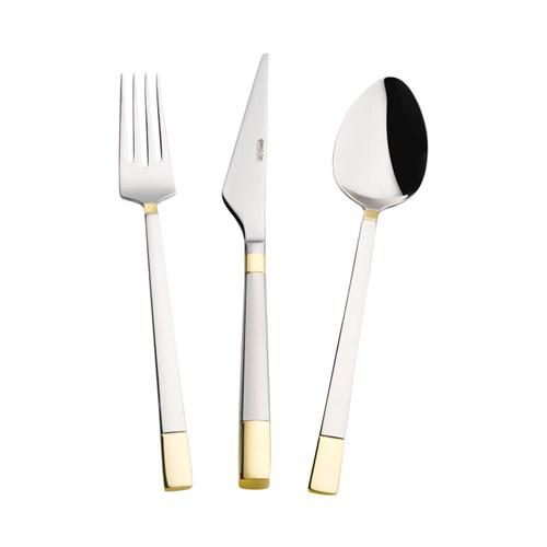 Emsan Duru Gold 84 Parça Çatal Kaşık Bıçak Set - Deri Sandıklı