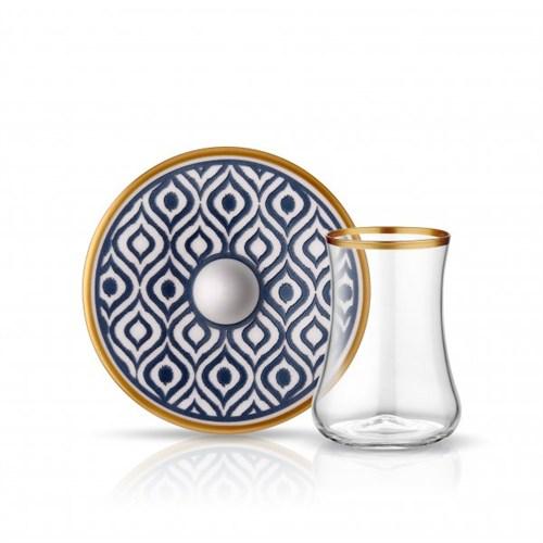Koleksiyon Dervish Ikat Çay Seti 6Lı Antrasit
