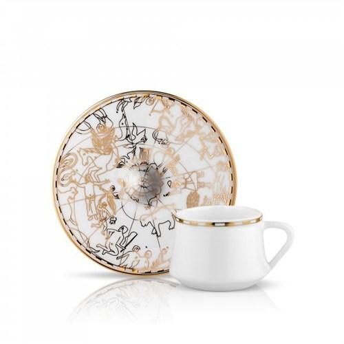 Koleksiyon Sufi İrismano Türk Kahvesi Seti 6Lı Altın