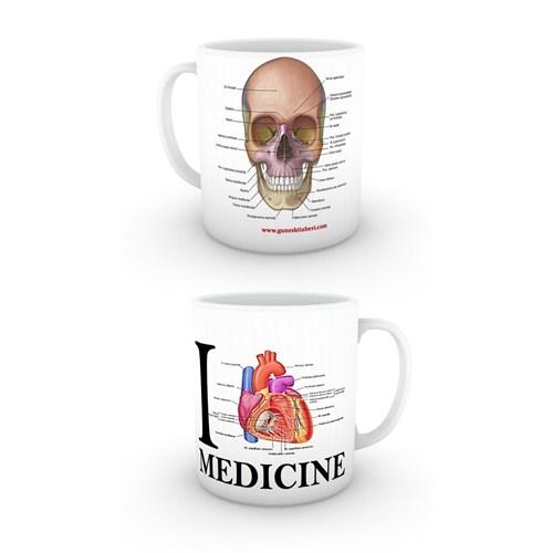 Love Medicine Kafatası Kupa