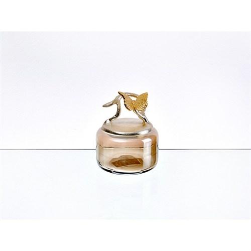 Lucky Art Gold Amber Kelebekli Kavanoz - Cd 019